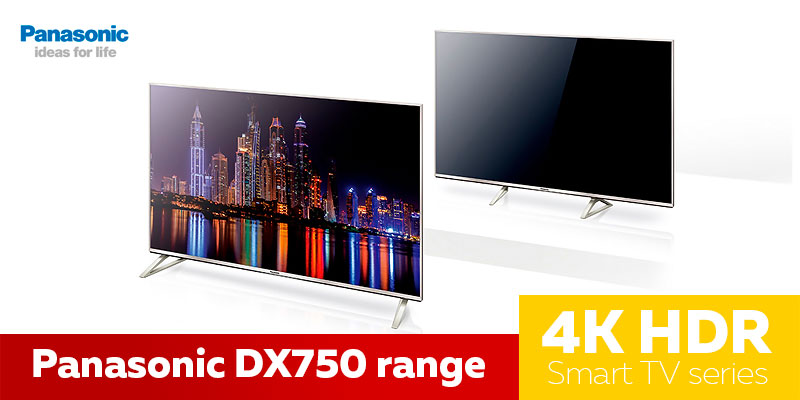 Panasonic DX750 range - телевизор в формате 4к